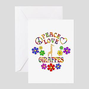 Peace Love Giraffes Greeting Card