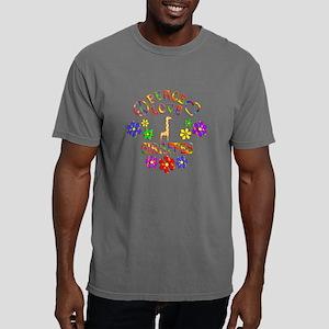 Peace Love Giraffes Mens Comfort Colors Shirt