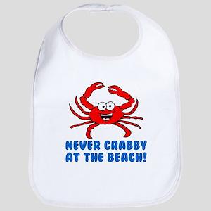 Never Crabby At Beach Bib