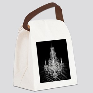 modern abstract chandelier Canvas Lunch Bag