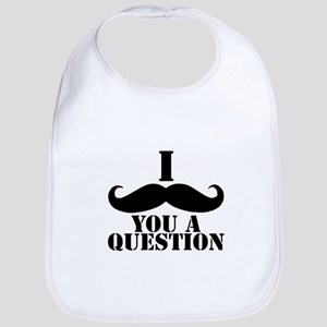 I Mustache You A Question | Black Mustache Bib