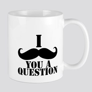 I Mustache You A Question | Black Mustache Mug