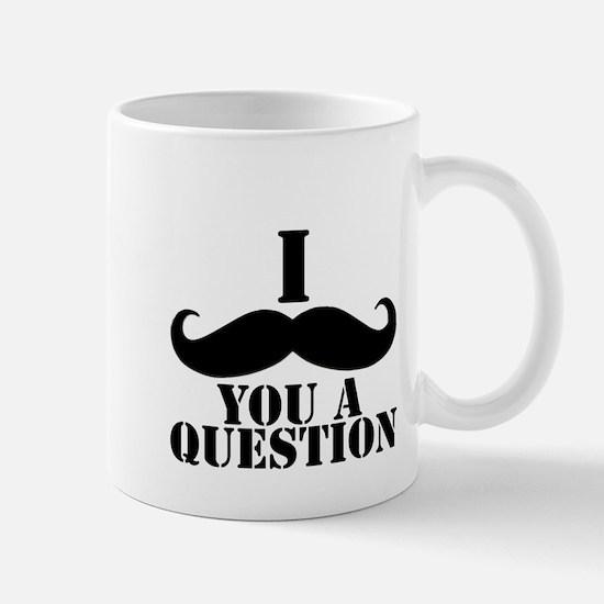 I Mustache You A Question   Black Mustache Mug
