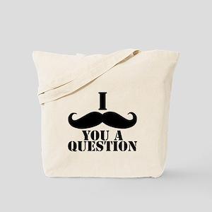 I Mustache You A Question | Black Mustache Tote Ba