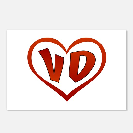 VD Heart Postcards (Package of 8)