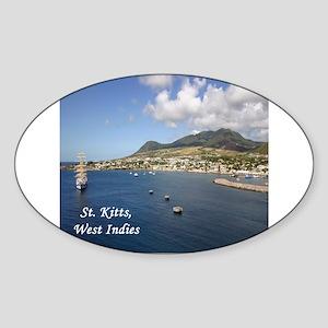 St. Kitts Sticker (Oval)