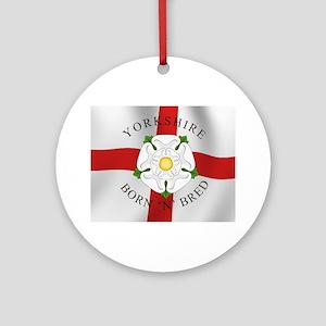 Yorkshire Born 'N' Bred Ornament (Round)