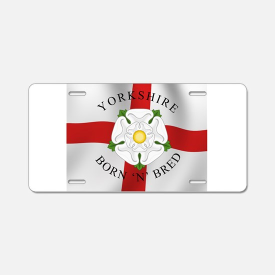 Yorkshire Born 'N' Bred Aluminum License Plate