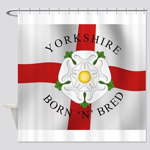 Yorkshire Born 'N' Bred Shower Curtain