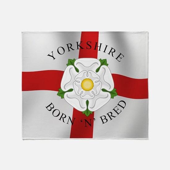 Yorkshire Born 'N' Bred Throw Blanket