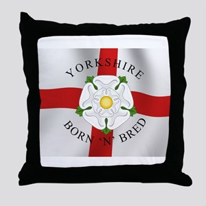 Yorkshire Born 'N' Bred Throw Pillow