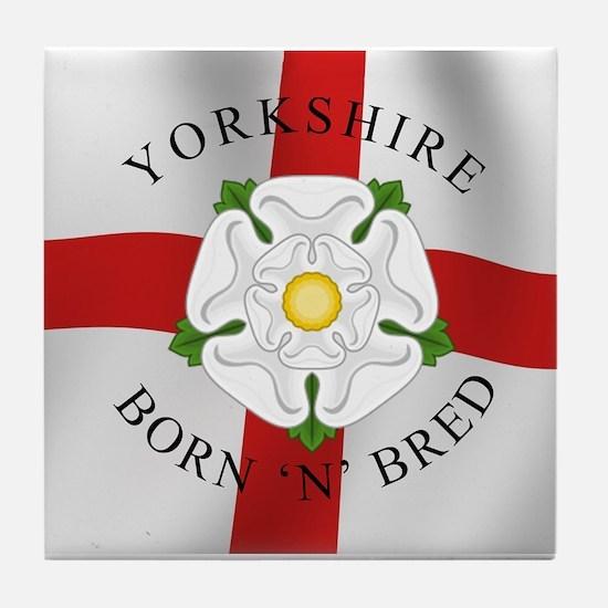Yorkshire Born 'N' Bred Tile Coaster