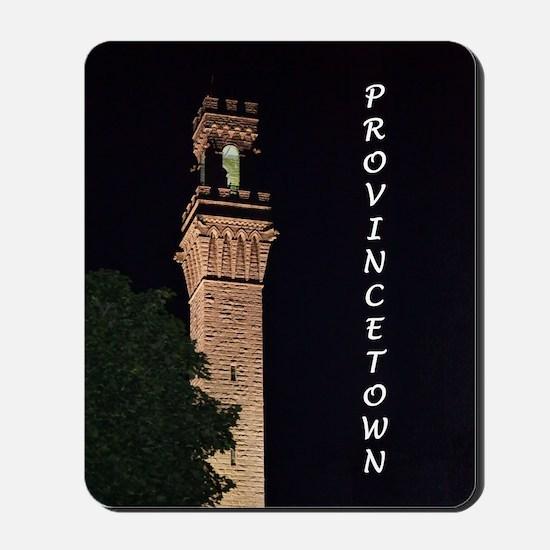 Pilgrim Monument at Night Mousepad