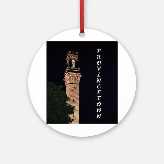 Pilgrim Monument at Night Ornament (Round)
