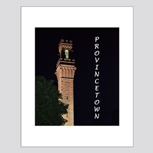 Pilgrim Monument at Night Small Poster
