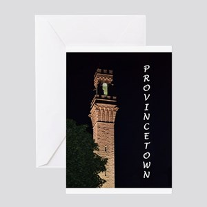 Pilgrim Monument at Night Greeting Card