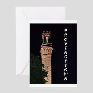 Pilgrim Monument at Night Greeting Card