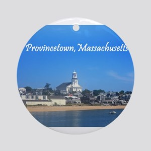 Provincetown Harbor Ornament (Round)