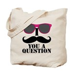 Black Mustache and Sunglasses Tote Bag