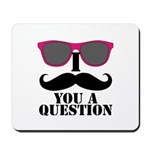 Black Mustache and Sunglasses Mousepad