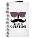Black Mustache and Sunglasses Journal