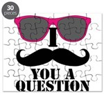 I Mustache You A Question Pink Sunglasses Puzzle