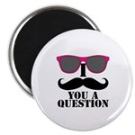I Mustache You A Question Pink Sunglasses Magnets
