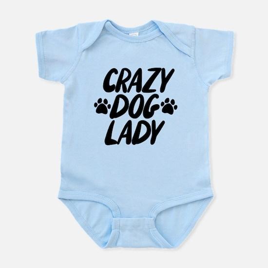 Crazy Dog Lady Baby Light Bodysuit