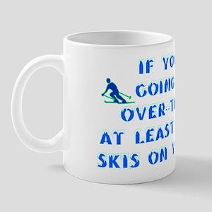Over the Hill on Skis Mug