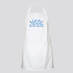 Over the Hill on Skis BBQ Apron