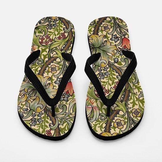 Morris Golden Lily Flip Flops