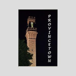 Pilgrim Monument at Night Magnets