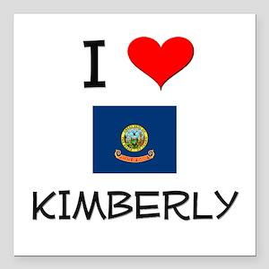 """I Love KIMBERLY Idaho Square Car Magnet 3"""" x 3"""""""