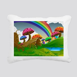 Mushroom Forrest Rectangular Canvas Pillow