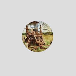 rustic farm tractor Mini Button
