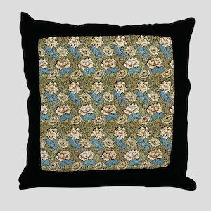 William Morris Chrysanthemums Throw Pillow