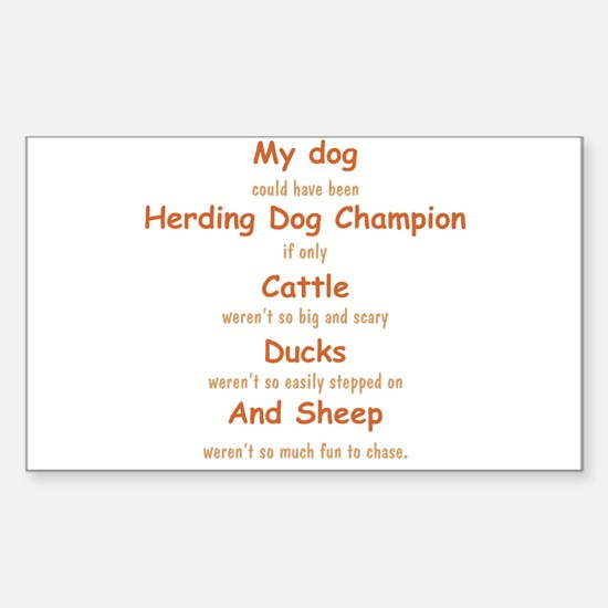 Herding Champion CDS Sticker (Rectangle)