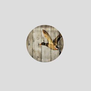 barnwood wild duck Mini Button