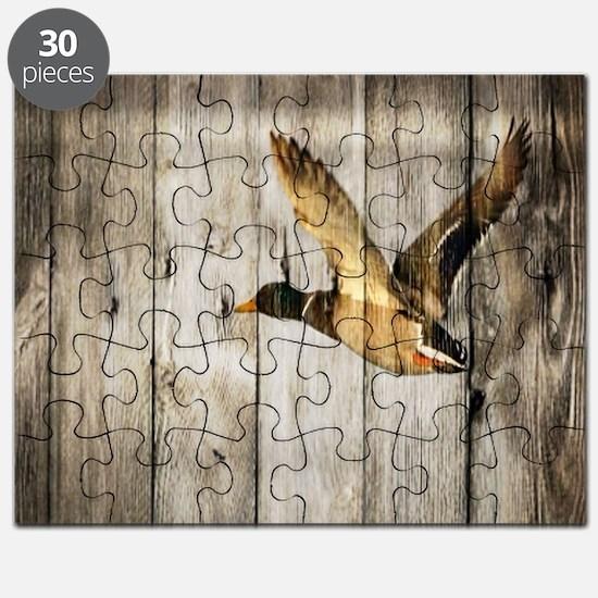 barnwood wild duck Puzzle