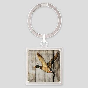 barnwood wild duck Square Keychain