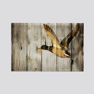 barnwood wild duck Rectangle Magnet