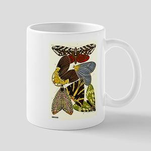 Antique French 1920 Seguy Moths Print Plate 14 Mug