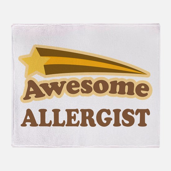 Awesome Allergist Throw Blanket