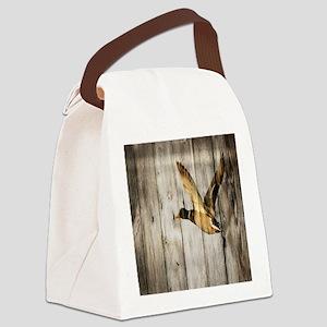 barnwood wild duck Canvas Lunch Bag