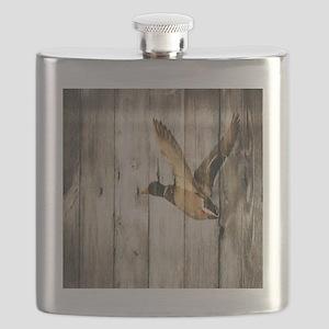 barnwood wild duck Flask