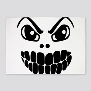 Scary Mask 5'x7'Area Rug