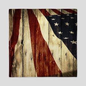 grunge USA flag Queen Duvet