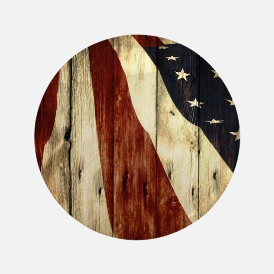 "grunge USA flag 3.5"" Button"