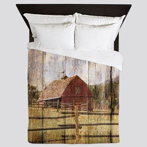 farm red barn Queen Duvet