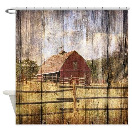 Farm Red Barn Shower Curtain By Listing Store 62325139